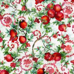 3169-001 Illuminating the Season - Balaustine - Noel Digiprint Fabric