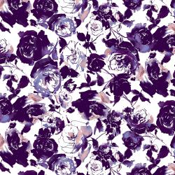 RJ1800-DP1 Ink Rose - Rose Garden - Deep Purple Fabric