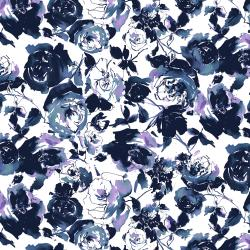 RJ1800-MI2 Ink Rose - Rose Garden - Midnight Fabric