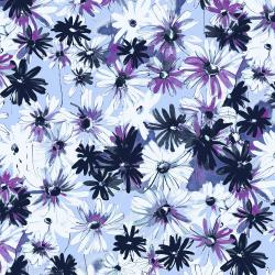 RJ1801-PE2 Ink Rose - Daisy Bundle - Periwinkle Fabric