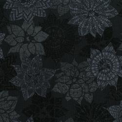 3492-003 Let It Sparkle - Christmas Crochet - Black Fabric