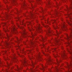 3493-001 Let It Sparkle - Holiday Lace - Radiant Ruby Metallic Fabric