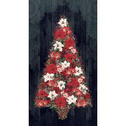 3509-002 Let It Sparkle - Cozy Christmas - Black Digiprint Fabric