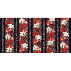 3510-002 Let It Sparkle - Yuletide Treasure - Winter Black Digiprint Fabric