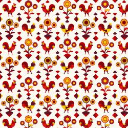 RJ1901-RE1 Lil' Bit Country - Rockin' Rooster - Red Fabric