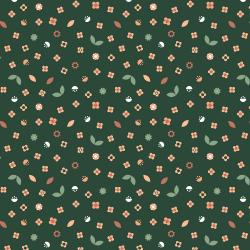 RJ2604-FO3 London is Calling - Piccadilly Circus - Forest Fabric
