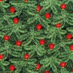 3154-002 Merry, Berry, & Bright - Brilliant Baubles - Radiant Pine Metallic Fabric