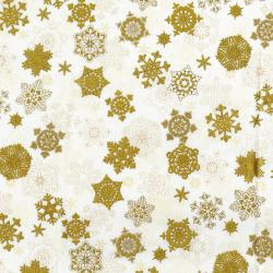 3160-002 Merry, Berry, & Bright - Snow Glisten - Snow Metallic Fabric