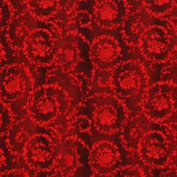 3161-002 Merry, Berry, & Bright - Garland - Radiant Crimson Metallic Fabric