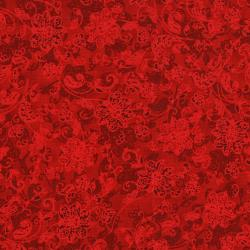 3162-002 Merry, Berry, & Bright - Deck The Halls - Radiant Ruby Metallic Fabric