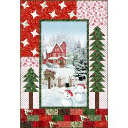 9653-435 Merry, Berry, & Bright - Merry Little Christmas Quilt Kit