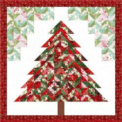9653-436 Merry, Berry, & Bright - Strip Tube Tannenbaum Quilt Kit