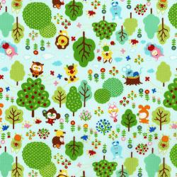 3288-001 MofPof - Friendly Forest - Fruit Punch Fabric