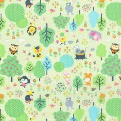 3288-002 MofPof - Friendly Forest - Mint Fabric
