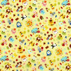 3290-001 MofPof - Party Time - Banana Fabric