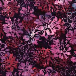RJ1000-BL2B Nature Walk - Fall Floral - Blackberry Batik Fabric
