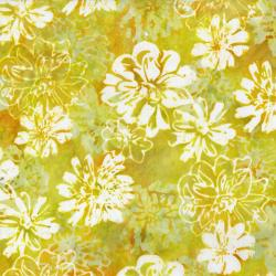 RJ1000-MA3B Nature Walk - Fall Floral - Marigold Batik Fabric