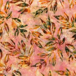 RJ1001-PE5B Nature Walk - Leaves - Peach Batik Fabric