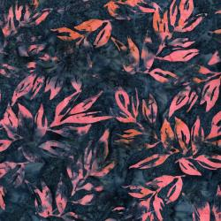 RJ1001-TW7B Nature Walk - Leaves - Twilight Batik Fabric