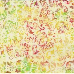 RJ1002-MO1B Nature Walk - Woodcut Floral - Morning Sun Batik Fabric