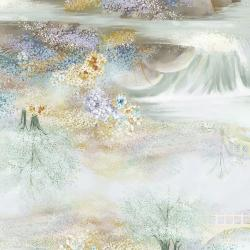 RJ2901-FW2D Peacock Walk - Waterfall - Fresh Water Digiprint Fabric