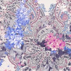 RJ2902-PU1D Peacock Walk - Pure Paisley - Purple Digiprint Fabric