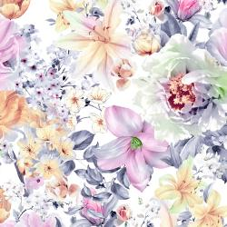 RJ2903-PI1D Peacock Walk - Floral Array - Pink Digiprint Fabric