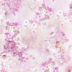 RJ2904-BL1D Peacock Walk - English Rose - Blush Digiprint Fabric