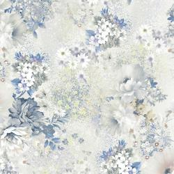 RJ2904-PO2D Peacock Walk - English Rose - Powder Digiprint Fabric