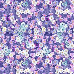 RJ2905-PU1D Peacock Walk - Flower Bed - Purple Digiprint Fabric