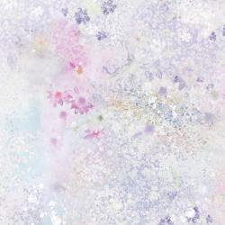 RJ2906-PS1D Peacock Walk - Meadow Fog - Pink Sprinkles Digiprint Fabric