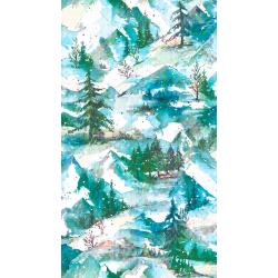 RJ402-FR1D Pineview - Winter Holiday - Frost Digiprint Fabric
