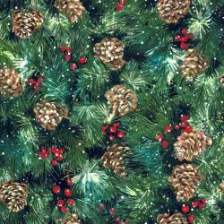 RJ403-HO1D Pineview - Gather and Glow - Holly Digiprint Fabric