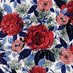 3275-001 Rose Hutch - Favorite Floral - Rouge Fabric