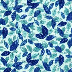 3278-002 Rose Hutch - Leafty Blues - Aquastone Fabric