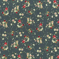 3498-001 Rosette - Marguerite - Graphite Fabric