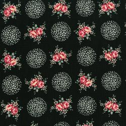 3499-001 Rosette - Provence - Midnight Rose Fabric