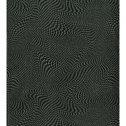 2958-001 Silver Circuits - Mesh - Black Metallic Fabric