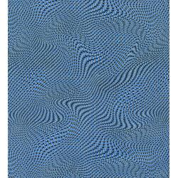 2958-003 Silver Circuits - Mesh - Blue Metallic Fabric