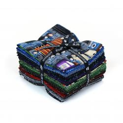 9653-332 Silver Circuits Fat Quarters