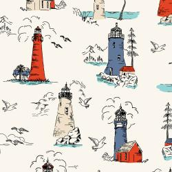 RJ2300-BR1 Smooth Seas - Lighthouse - Bright Fabric