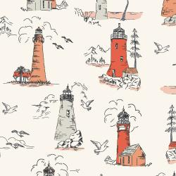 RJ2300-GL2 Smooth Seas - Lighthouse - Glow Fabric