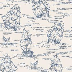 RJ2301-BL1 Smooth Seas - Voyage - Blue Fabric