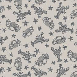 RJ2303-SM3 Smooth Seas - Crustacean - Smoke Fabric