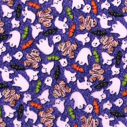 3109-001 Spooky Snacks - Creepy Confections - Violet Fabric
