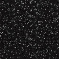 3112-001 Spooky Snacks - Licorice Whirl - Black Fabric