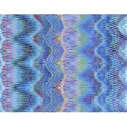 3615-001 Starlight & Splendor - Wavelength - Turquoise Digiprint Fabric