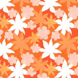 RJ3401-OB2 Wide Open Spaces - Wildflowers - Orange Burst Fabric
