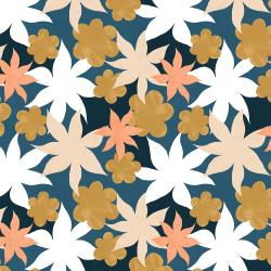 RJ3401-OC1 Wide Open Spaces - Wildflowers - Oceanside Fabric
