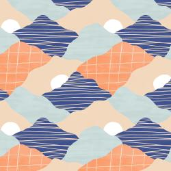 RJ3402-ES3 Wide Open Spaces - The Mountains are Calling - Evening Sky Fabric